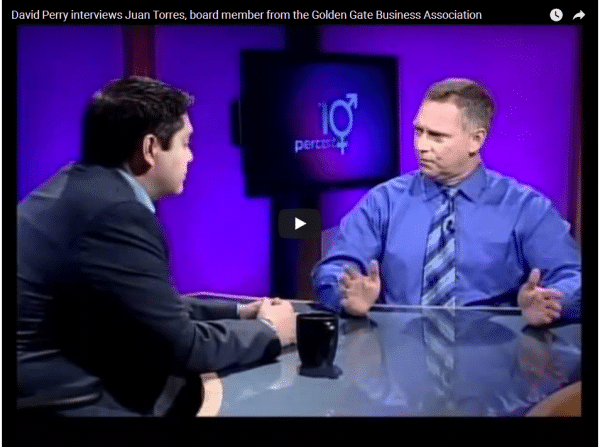 David Perry interviewing Juan Torres – GGBA Board Member- May 25, 2012