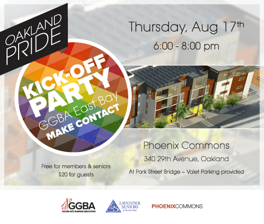 GGBA East Bay Make Contact and Oakland Pride Kick-Off Party