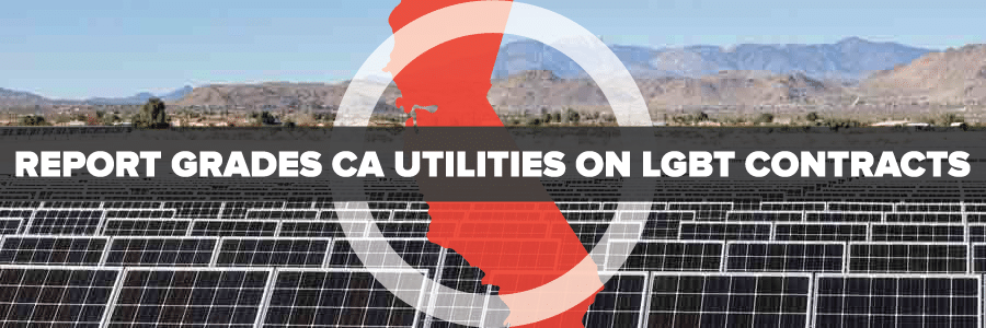 Report grades CA utilities on LGBT contracts