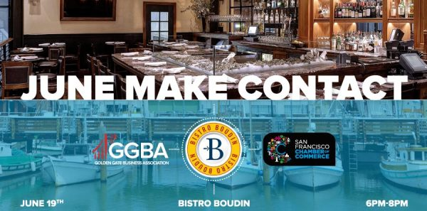 GGBA SF June Make Contact at Bistro Boudin