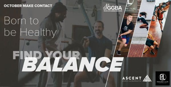 GGBA October Make Contact at Perform For Life and Ascent Sports Chiropractic