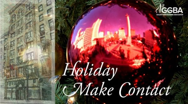 GGBA San Francisco Holiday Make Contact