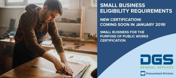 Senate Bill (SB) 605 Small Business for the purpose of Public Works Certification