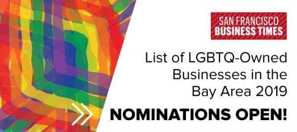 San Francisco Business Times' List of LGBTQ-Owned Businesses in the Bay Area 2019
