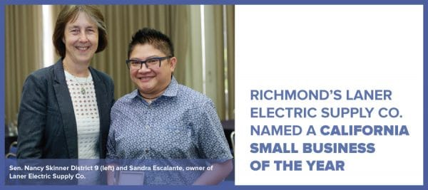 Richmond's Laner Electric Supply Co. named a California Small Business of the Year