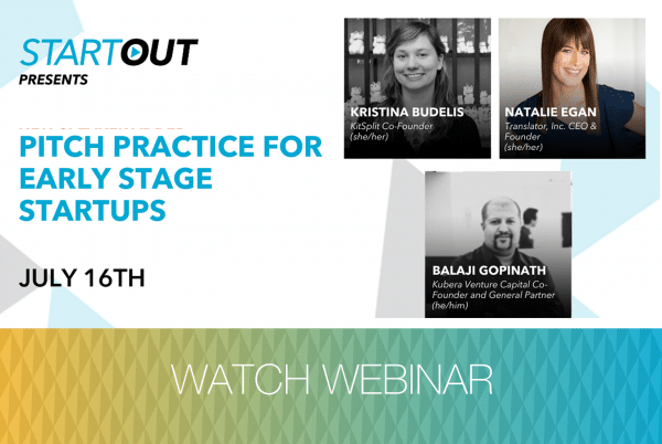 Webinar: Pitch Practice For Early Stage Start Ups